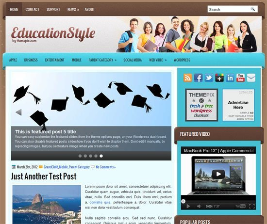 Educational WordPress Themes - Education Style WordPress Theme
