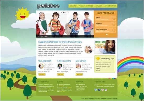 Educational WordPress Themes - Peekabo WordPress theme