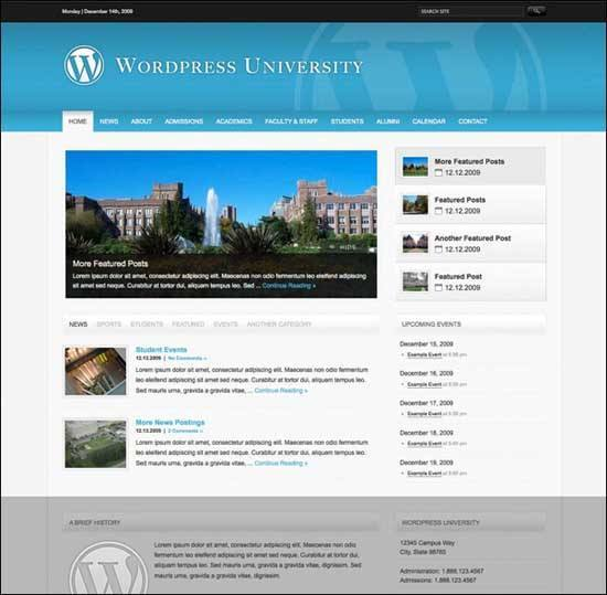 Educational WordPress Themes - WordPress University Theme