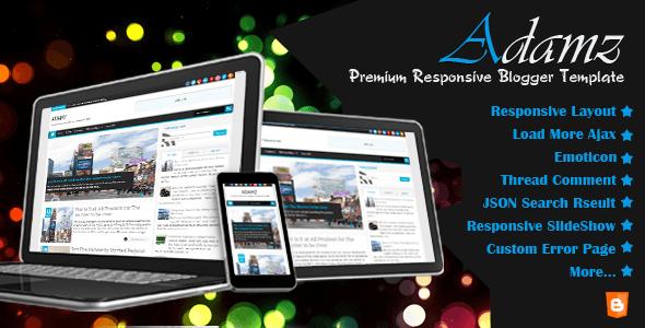 Adamz Premium Responsive Blogger Template