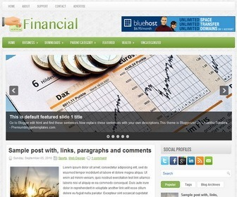 Financial blogger template ivythemes financial blogger template pronofoot35fo Image collections
