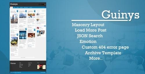 Guinys Premium Responsive Blogger Template