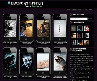 Iphone Wallpapers Blogger Template