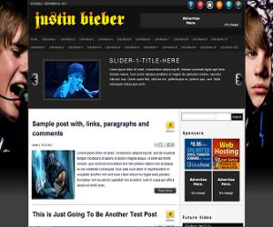Justin Bieber Premium Blogger Template