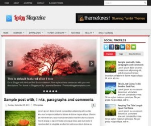 Ledgy Blogger Template