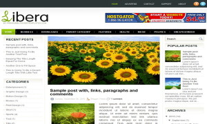 Libera-Blogger-Template