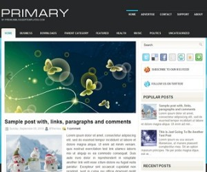 Primary Blogger Template
