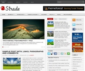 Strade Blogger Template