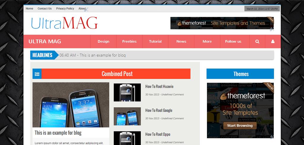 UltraMag Portfolio Blogger Theme - IVYThemes com