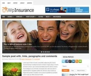 WpInsurance Blogger Template