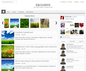 ExcluSive Blogger Template