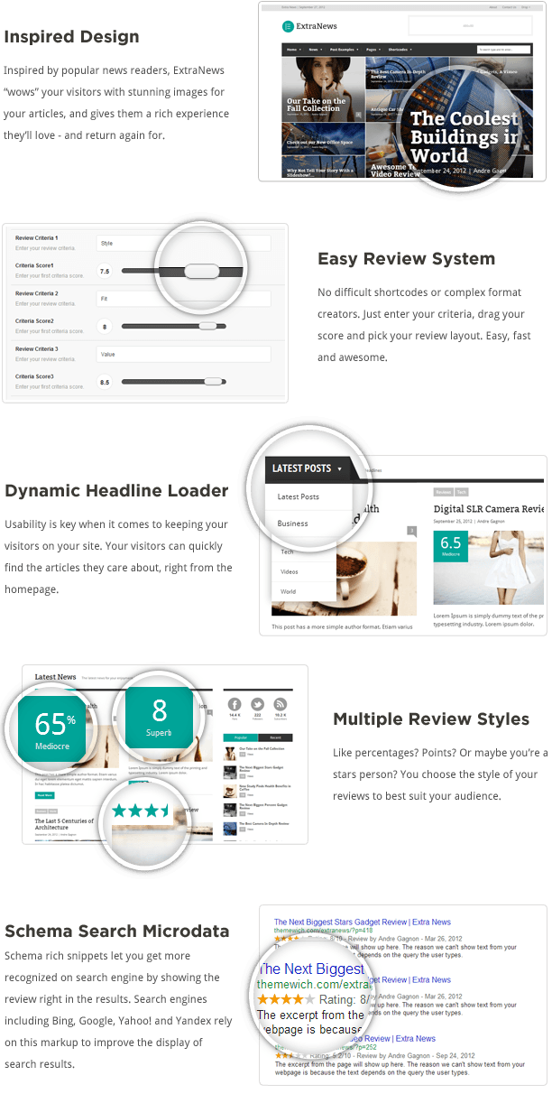 ExtraNews Wordpress theme