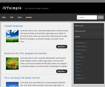 IVY Simple Blogger Template
