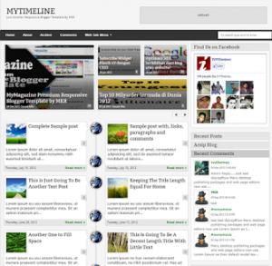 MyTimeLine Blogger Template
