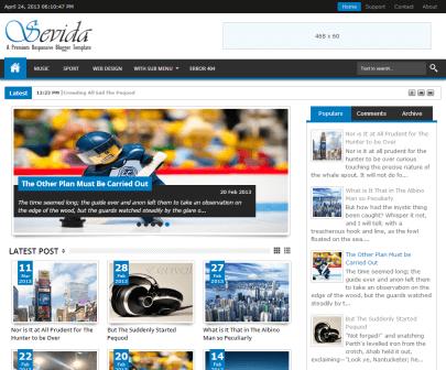 Sevida Responsive Premium Blogger Template - IVYThemes.com